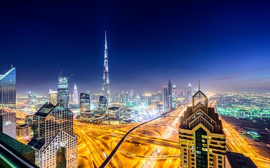 LypseUAE2015「Dubai Downtown skyline at night」:スマホ壁紙(11)