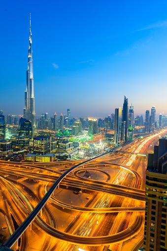 LypseUAE2015「Dubai Downtown at twilight」:スマホ壁紙(19)