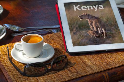 Guidebook「A digital Kenya guide book on a traveller's table」:スマホ壁紙(6)