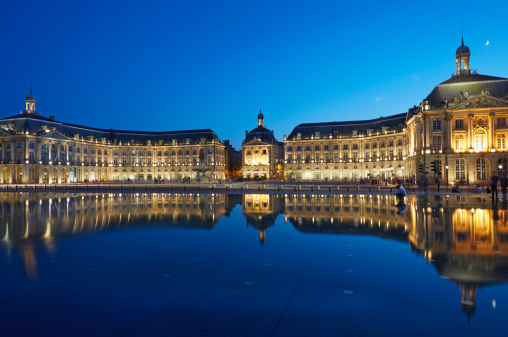 Nouvelle-Aquitaine「Buildings reflected at 'De La Bourse' in Bordeaux」:スマホ壁紙(12)