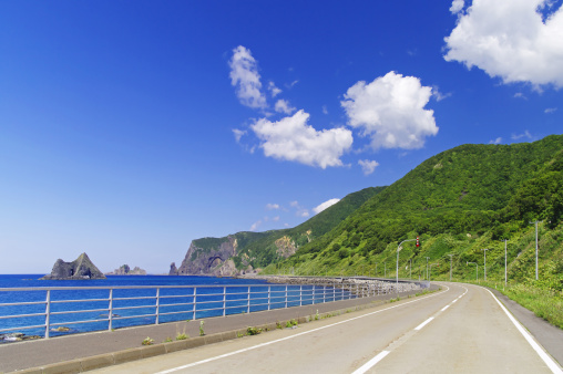 Peninsula「Shakotan Peninsula Coastline Rock Formation Road」:スマホ壁紙(18)