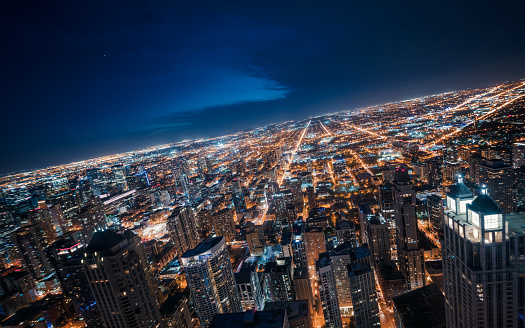 Cryptocurrency「Tilted in Chicago Skyline at Night」:スマホ壁紙(14)