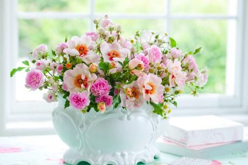 Flower Arrangement「Pink Bouquet」:スマホ壁紙(13)