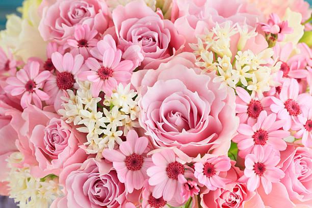 Pink bouquet:スマホ壁紙(壁紙.com)