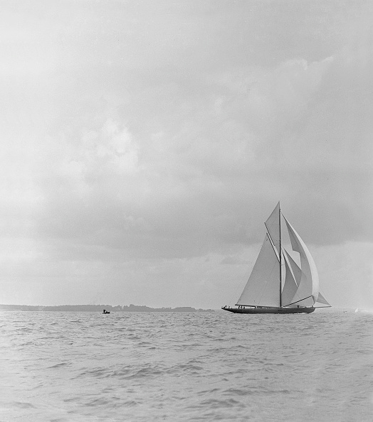 Cutting「The Racing Cutter Terpisichore Running Downwind」:写真・画像(18)[壁紙.com]