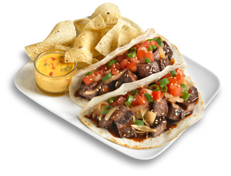 Taco「Steak Taco with chips, Isolated」:スマホ壁紙(14)