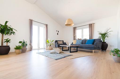 Indoors「Modern cozy living room」:スマホ壁紙(18)