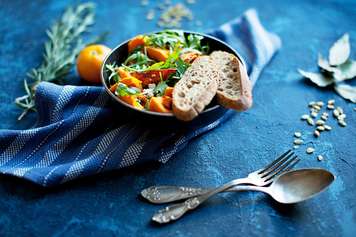 Vegetarian Food「Pumpkin salad」:スマホ壁紙(18)