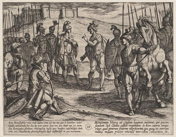 Etching「Plate 15: Civilis Treating With A Roman Commander」:写真・画像(2)[壁紙.com]