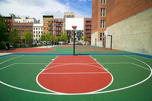 Lower East Side Manhattan「Urban Basketball Court」:スマホ壁紙(7)