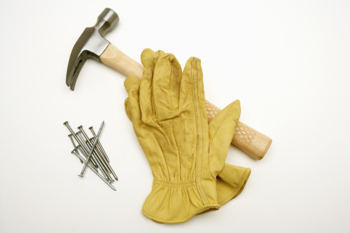 Protective Glove「Hammer, nails and work gloves」:スマホ壁紙(12)