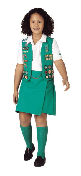 Uniform「Model Wears The New 2001 Junior Girl Scout Uniform In This Undated Photo」:写真・画像(3)[壁紙.com]