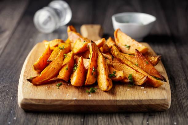 roasted Sweet potatoes wedges:スマホ壁紙(壁紙.com)