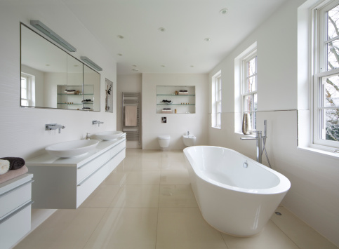 Domestic Bathroom「bright luxury bathroom」:スマホ壁紙(5)
