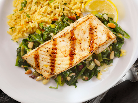 Pine Nut「Grilled Halibut with Spinach, leeks and Rice」:スマホ壁紙(13)