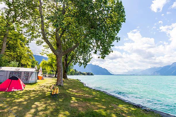 Camping by Lake Geneva, Switzerland:スマホ壁紙(壁紙.com)