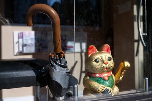 金運「Japanese lucky cat」:スマホ壁紙(17)