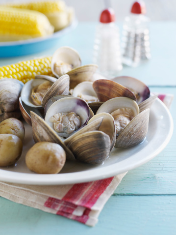 Clam - Seafood「Clam Bake with corn on the cob」:スマホ壁紙(15)