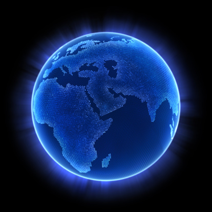 Planet Earth「An illuminated image of the earth with blue lighting」:スマホ壁紙(13)
