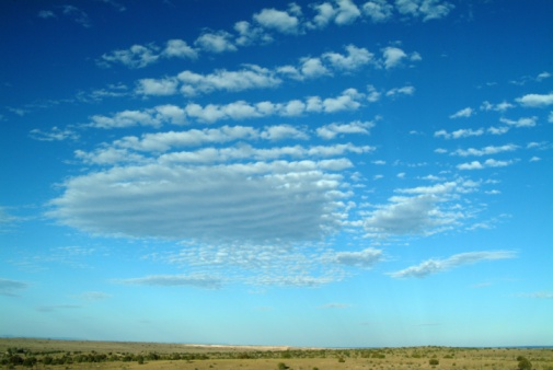 巻積雲「Mackerel sky over open prairie」:スマホ壁紙(6)