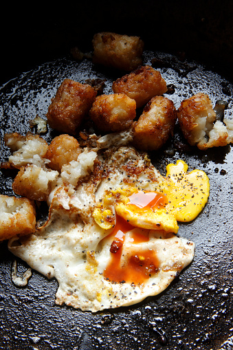 Ugliness「greasy fried egg and potato in skillet」:スマホ壁紙(19)