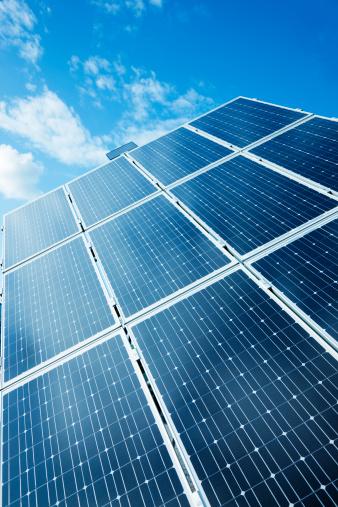 Power Supply「Solar Power Panels Against Blue Sky」:スマホ壁紙(4)