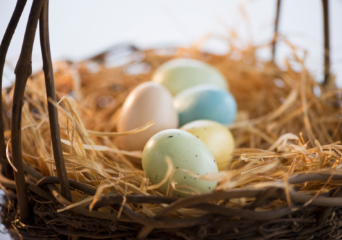 Easter Basket「Dyed Easter eggs in a basket」:スマホ壁紙(9)