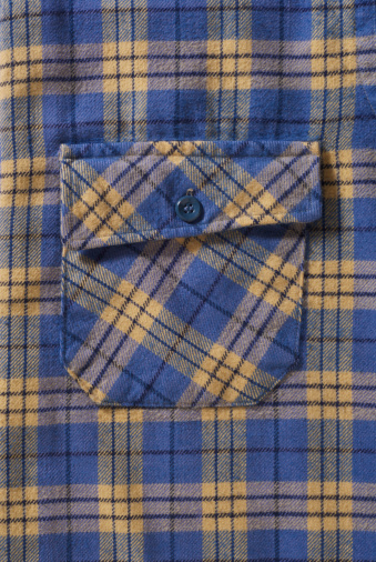 Tartan check「Blue and yellow plaid shirt pocket」:スマホ壁紙(6)