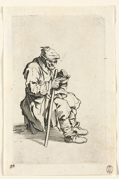 Etching「The Beggars: Beggar Sitting Down And Eating」:写真・画像(15)[壁紙.com]