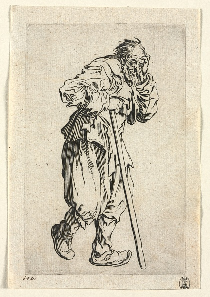 Etching「The Beggars: Beggar Leaning On A Stick」:写真・画像(13)[壁紙.com]