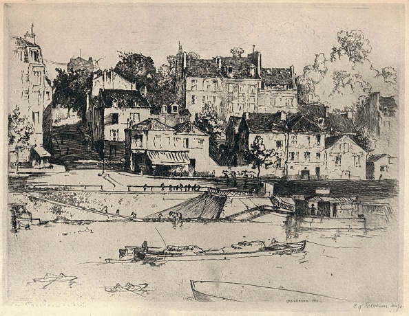 Etching「'Les Carriers', 1915. Artist: CK Gleeson.」:写真・画像(1)[壁紙.com]
