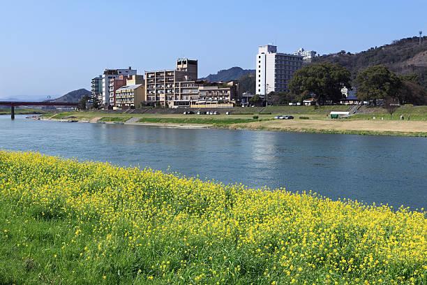 Harazuru Onsen and Chikugo River, Ukiha, Fukuoka, Japan:スマホ壁紙(壁紙.com)