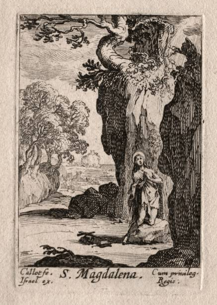 Les Penitents: St. Madeleine Repentante. Creator: Jacques Callot (French:ニュース(壁紙.com)