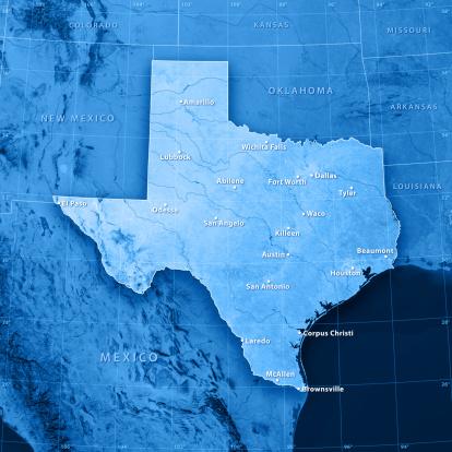 Latitude「Texas Cities Topographic Map」:スマホ壁紙(13)