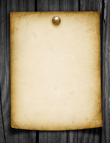 Wooden Post「Blank Grungy Paper Tacked to a Wood Post」:スマホ壁紙(3)