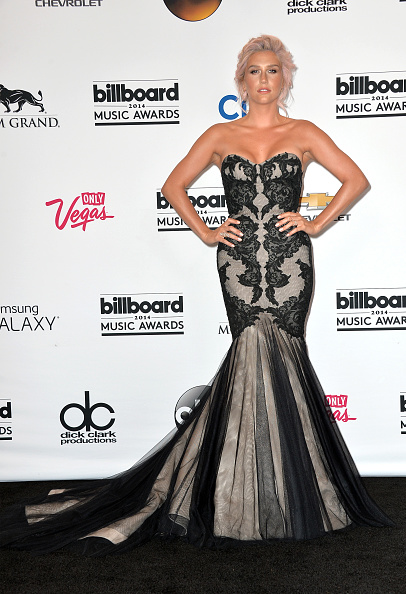 Strapless Evening Gown「2014 Billboard Music Awards - Press Room」:写真・画像(1)[壁紙.com]