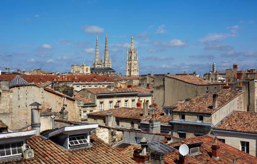 Nouvelle-Aquitaine「Elevated cityscape of Bordeaux」:スマホ壁紙(3)