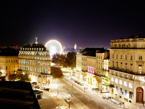 Nouvelle-Aquitaine「elevated city view at night」:スマホ壁紙(17)