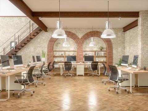 Open Plan「Open space office interior」:スマホ壁紙(1)