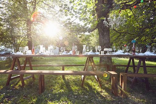 Wedding「Festive decorated table outdoors」:スマホ壁紙(0)