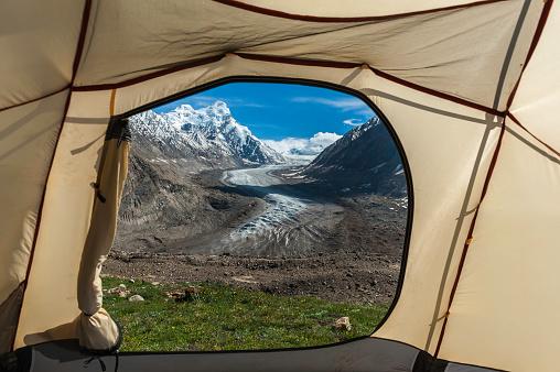 Himalayas「Drang Drung Glacier view from tent, Himalayas, Jammu and Kashmir, India」:スマホ壁紙(18)