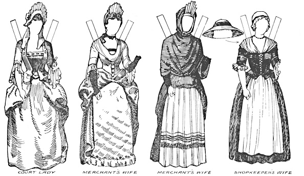 18th Century「The Gallery Of British Costume: Some Of The Dresses Worn In Annes Reign C」:写真・画像(14)[壁紙.com]