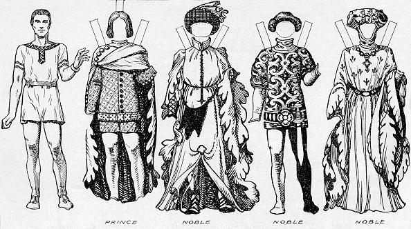 Hosiery「The Gallery Of Costume: Dresses Worn In The Last Years Of Edward Iiis Reign C」:写真・画像(6)[壁紙.com]