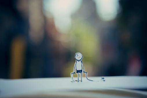 Paper Craft「Children jump rope」:スマホ壁紙(0)