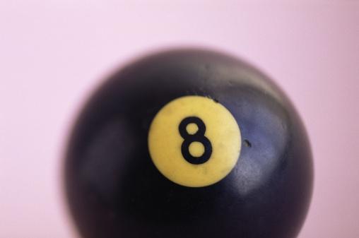 数字の8「Eight ball」:スマホ壁紙(16)