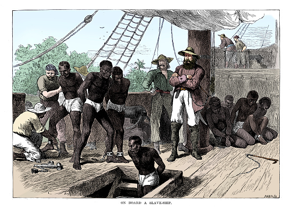 Ship「Captives Being Brought On Board A Slave Ship On The West Coast Of Africa (Slave Coast) C1880」:写真・画像(11)[壁紙.com]