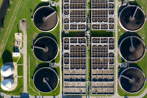 Ecosystem「Sewage Treatment Plant, Aerial View」:スマホ壁紙(2)