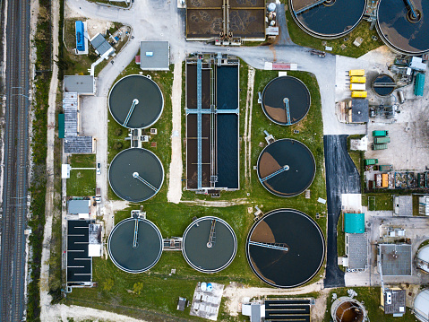 Biomass - Renewable Energy Source「Sewage treatment factory in Italy - aerial view」:スマホ壁紙(12)