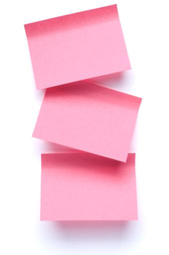 Information Medium「Three Post-it Notes on white」:スマホ壁紙(4)