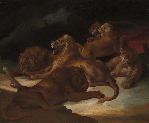Painted Image「Lions In A Mountainous Landscape」:写真・画像(16)[壁紙.com]